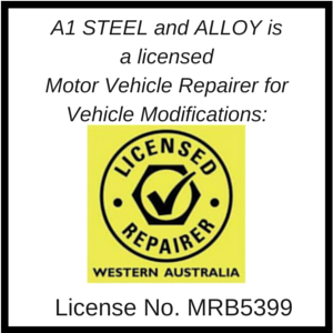 A1 Steel and Alloy is a Licensed Motor Vehicle Repairer for vehicle modifications