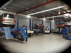 A1 Mechanics in Kewdale, workshop interior.