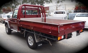 Custom ute tray by A1 Steel and Alloy
