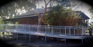 A ramp and handrail steel fabrication form A1 Steel and Alloy in Kewdale